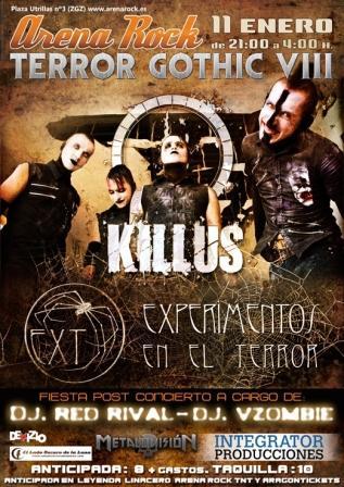 killus terror gothic vii experimentos del terror