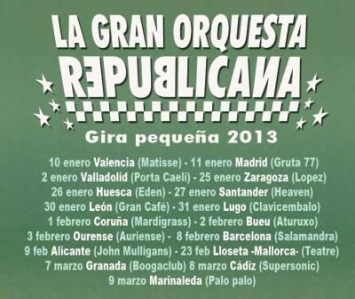 Concierto Sala López La Gran Orquesta Republicana