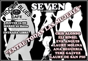 SEVEN + 7 MUJERES @ ROCK & BLUES CAFE | Zaragoza | Aragón | España