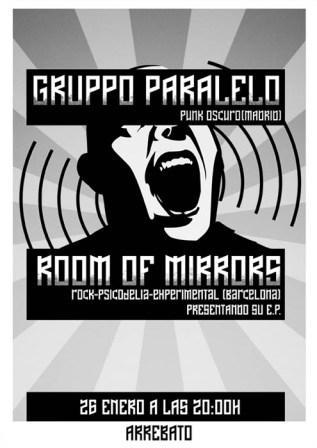 concierto sala arrebato Gruppo Paralelo y room of mirrors
