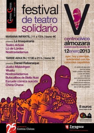 festival de teatro solidario cc almozara zaragoza