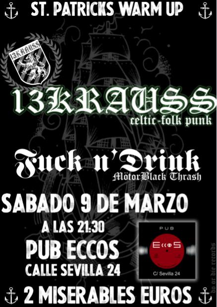 13Krauss + Fuck n'Drink zgz conciertos