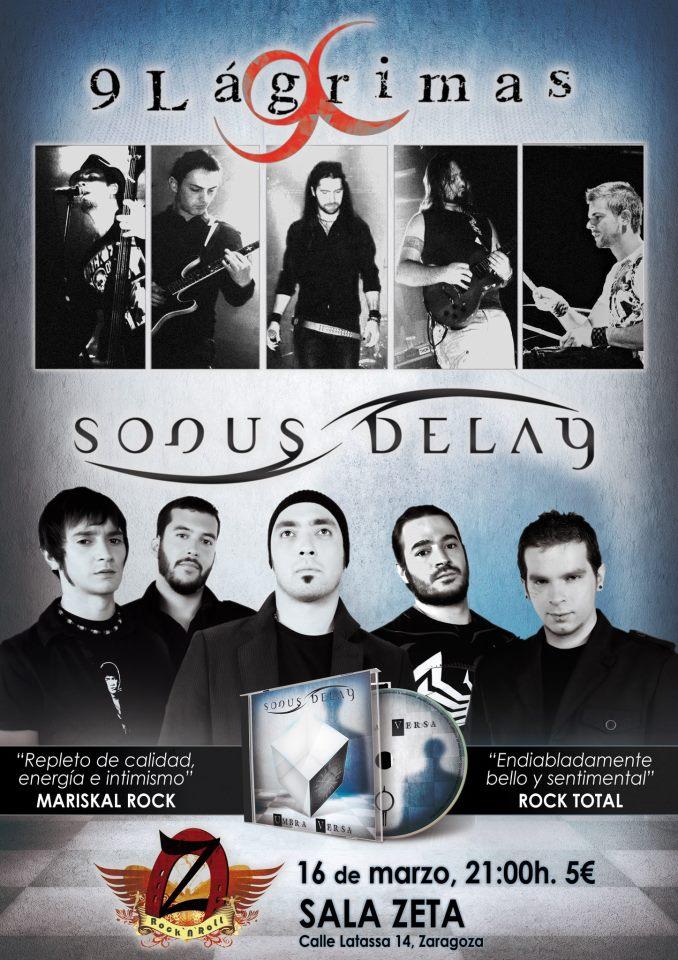 Concierto Sonus Delay + 9 Lágrimas zgz conciertos