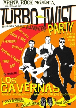 Los Cavernas y Turbo Twist Party