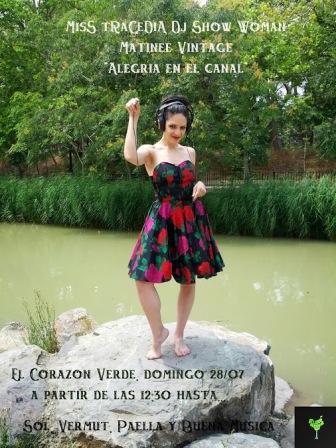Miss TRagedia Dj Matinee Corazón Verde