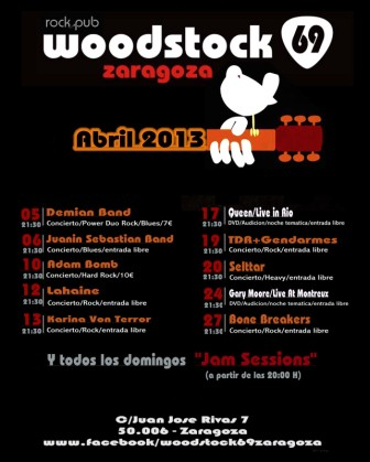 Cartel actuaciones Abril 2013