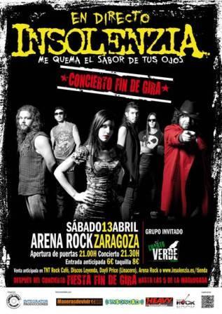 Concierto en Arena Rock Insolenza y El Cuarto Verde
