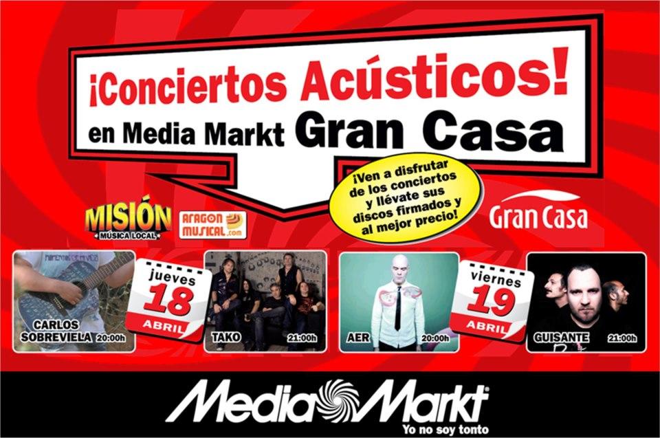Conciertos Acústicos Media Markt zgz conciertos