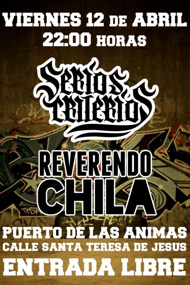 SERIOS CRITERIOS Y REVERENDO CHILA zgz conciertos