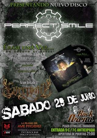 Concierto de Perfect Smile + Evernight