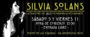 SILVIA SOLANS @ RESTAURANTE LA FARANDULA, Teatro de las Esquinas | Zaragoza | Aragón | España