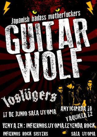 Concierto Guitar Wolf y Los Lügers