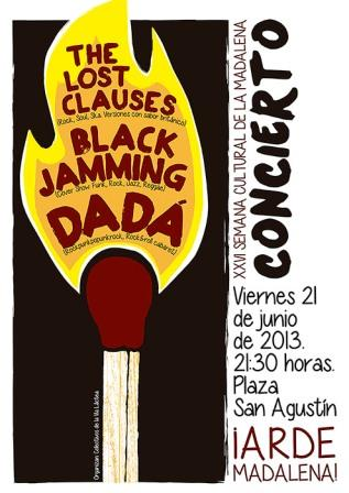 DADA + LOST CLAUSES + BLACK JAMMING