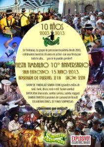 Timbalao fiesta 10 aniversario Zgz conciertos