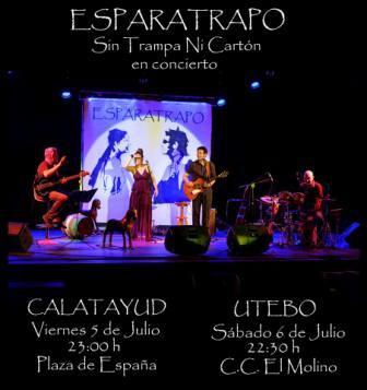 Concierto Esparatrapo en Calatayud y Utebo