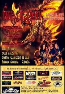 FIRE DRAGON EN CONCIERTO zgz conciertos