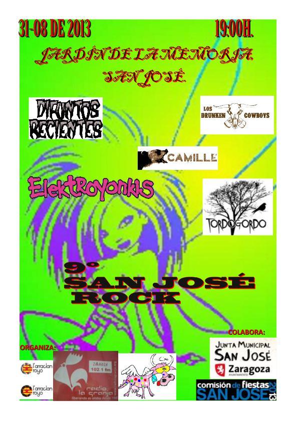 San Jose Rock Zgz conciertos