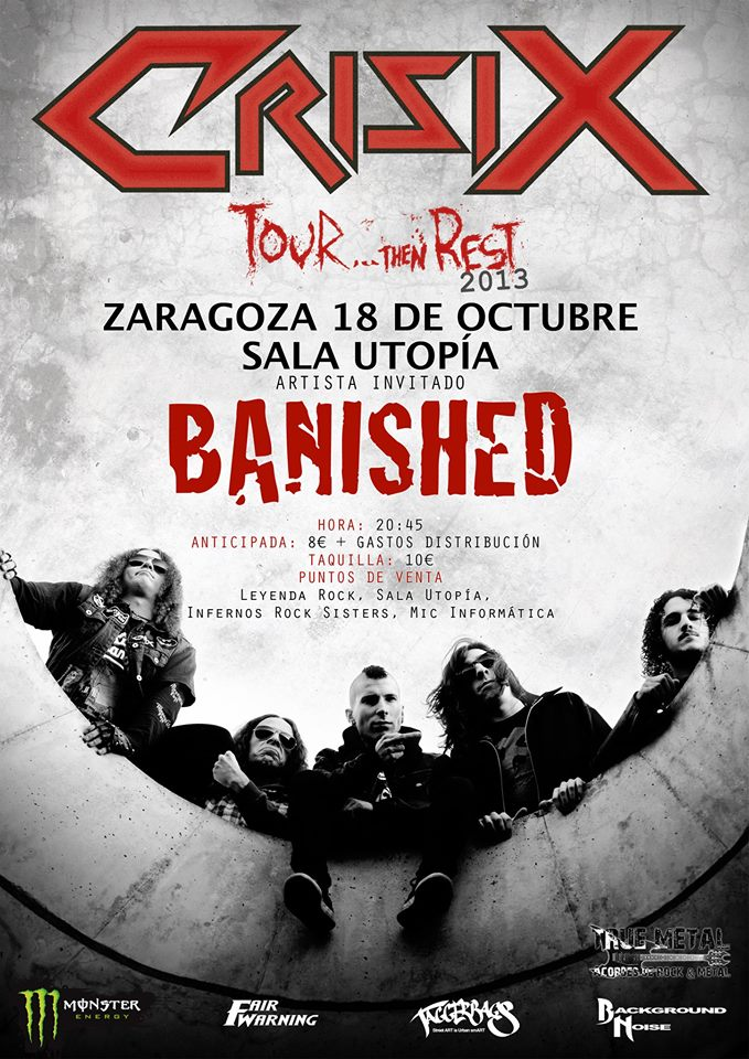 CRISIX+BANISHED zgz conciertos