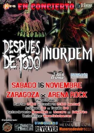 Concierto Despues de Todo + Desorden Arenarock Zaragoza