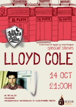 Concierto Lloyd Cole en El Plata Club de Zaragoza
