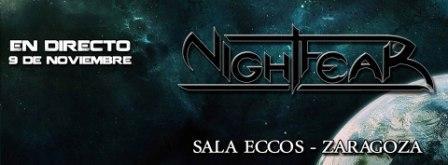 Concierto Nightfear en Pub Eccos Zaragoza