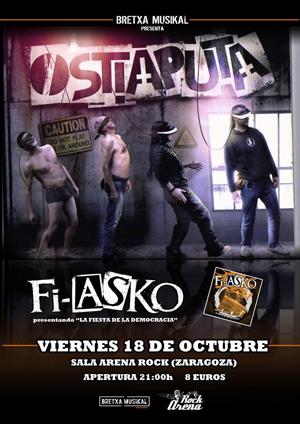 Concierto Ostiaputa en Arenarock viernes 18 octubre