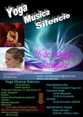 Concierto Yoga Musica Silencio Zaragoza Adama Sudha