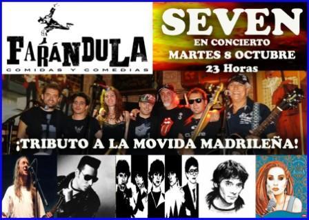 Concierto de Seven en la Farandula Zaragoza