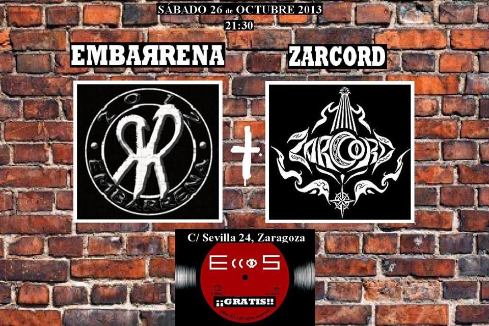 Embarrena (Zgz) + Zarcord (Trl) zgz conciertos