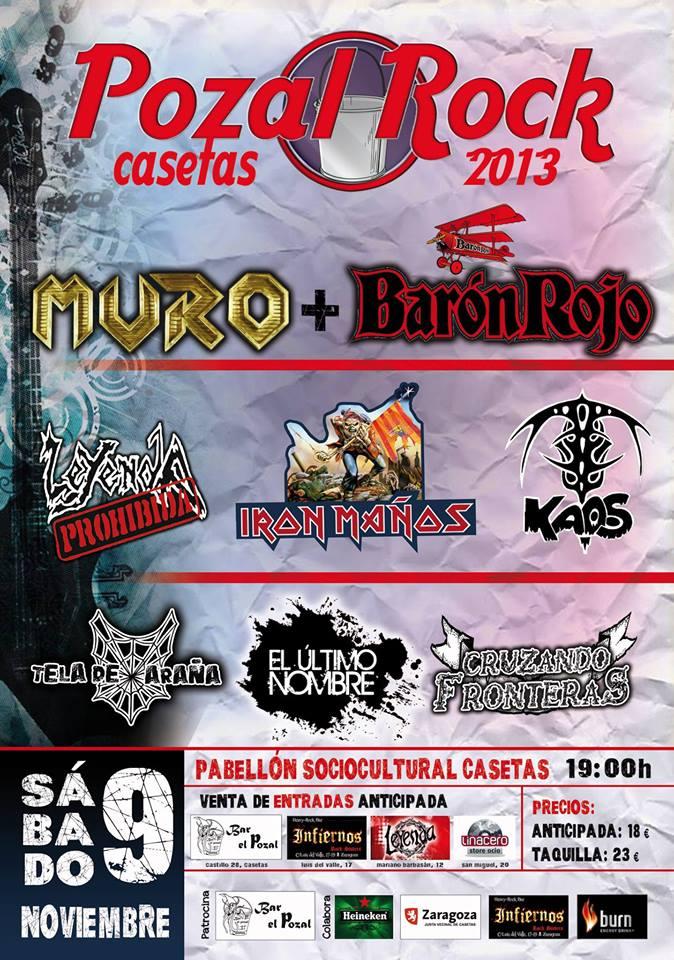 Fiesta presentación Pozal Rock 2013 zgz conciertos