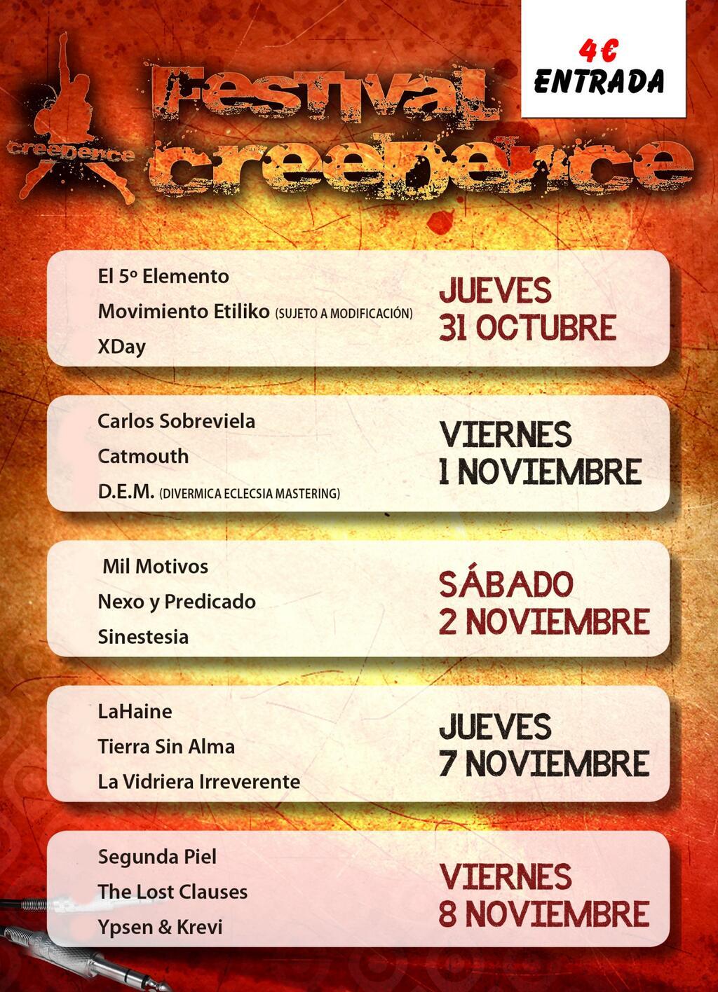 I Festival Creedence zgz conciertos