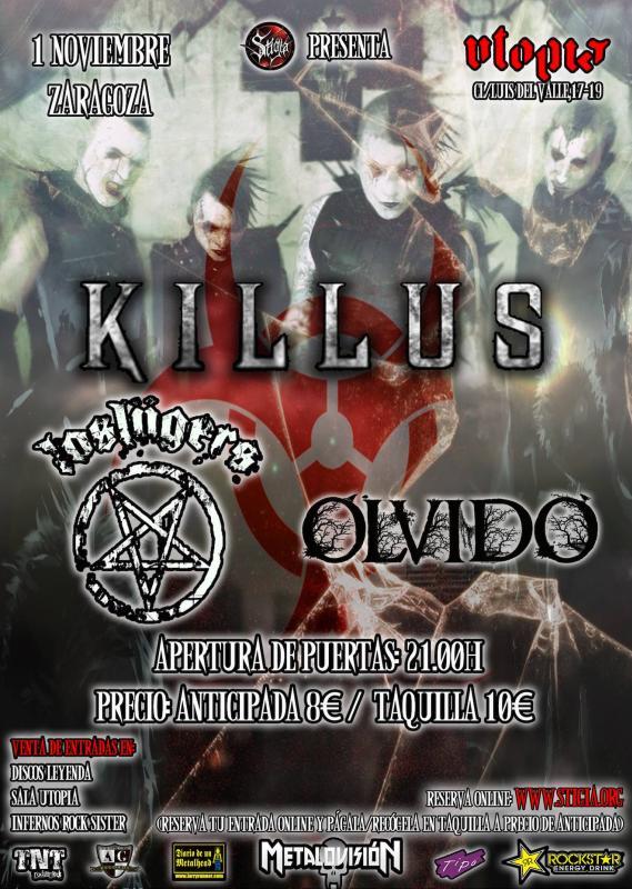 KILLUS + Olvido + Los Lügers zgz conciertos