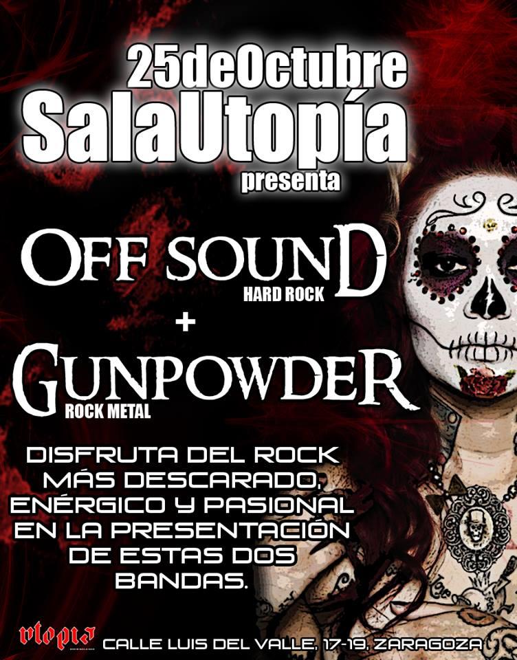 Off Sound y Gunpowder zgz conciertos