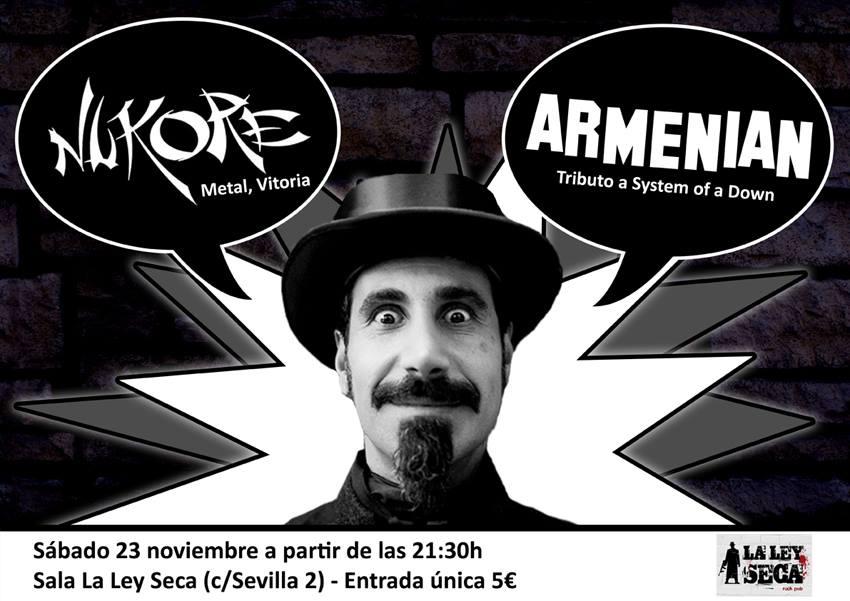 ARMENIAN (Tributo a S.O.A.D.) + NUKORE zgz conciertos