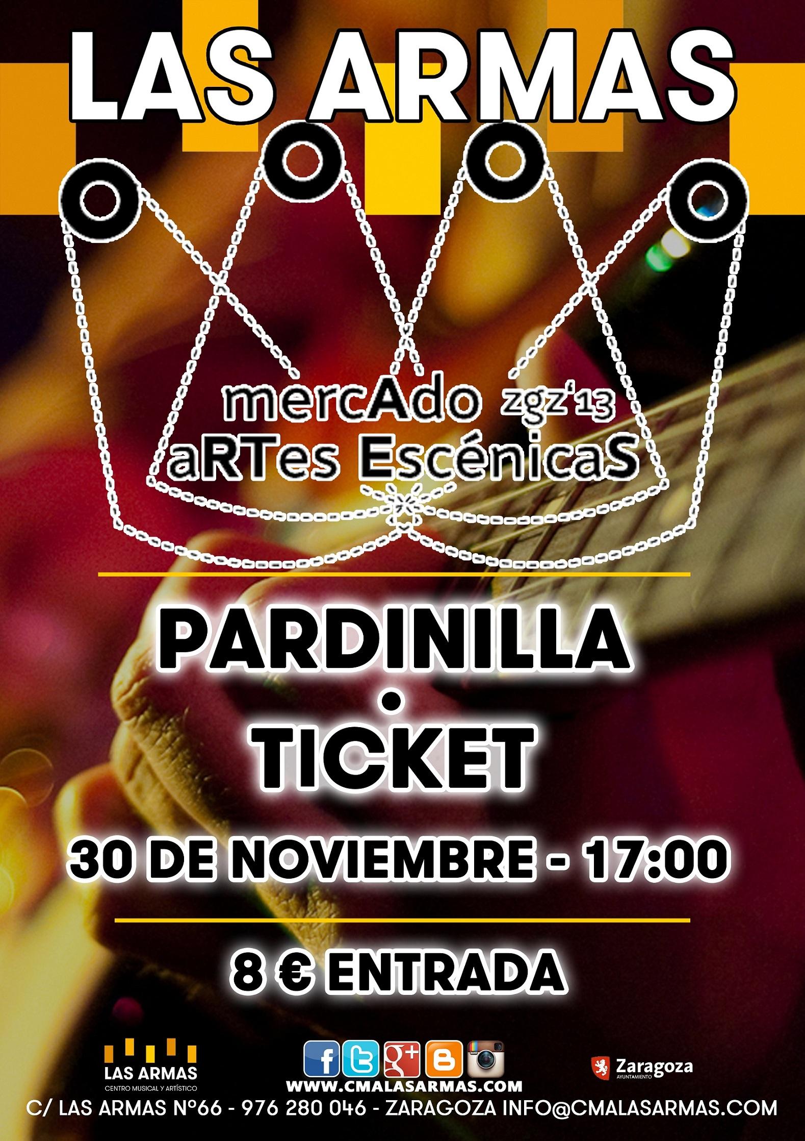 CARTEL PARDINILLA + TICKET zgz conciertos