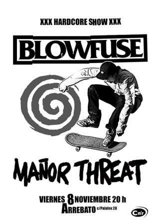 Concierto BLOWFUSE + Mañor Threat Sala ArrebatoConcierto BLOWFUSE + Mañor Threat Sala Arrebato