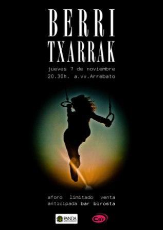 Concierto Berri  Txarrak sala Arrebato Zaragoza