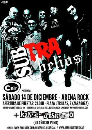 Concierto Subtrabelios arena rock
