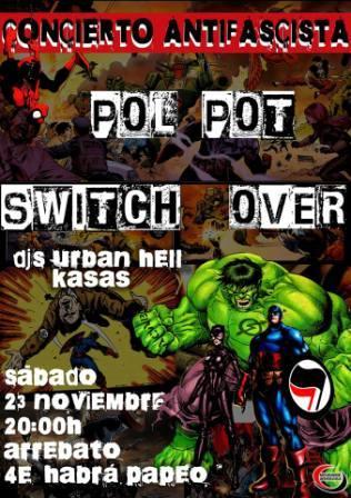 Concierto Switch Over + Pol Pot en Arrebato Zaragoza