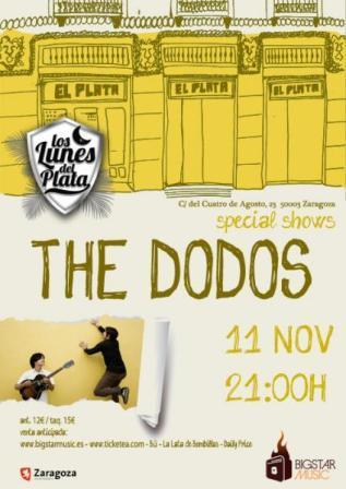 Concierto The Dodos en el Plata Zaragoza