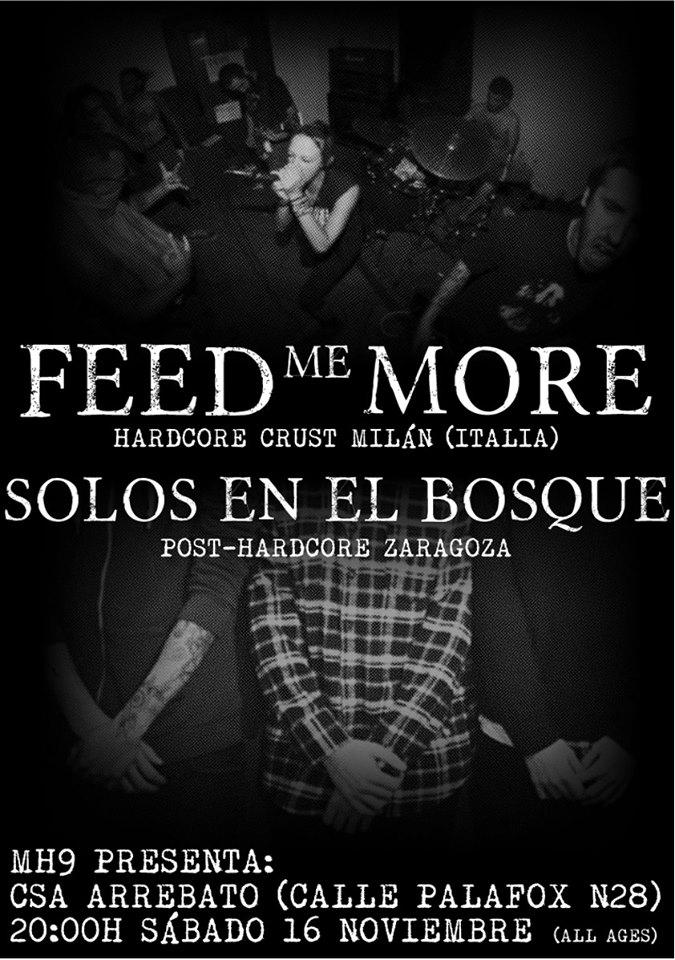FEED ME MORE + SOLOS EN EL BOSQUE zgz conciertos