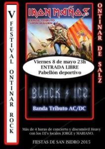 IRON MAÑOS + BLACK ICE @ PABELLON ONTINAR DE SALZ | Ontinar de Salz | Aragón | España