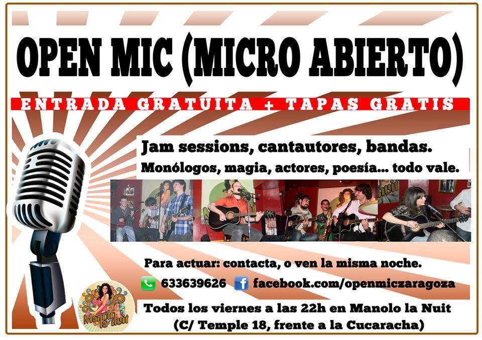 open mic zgz conciertos