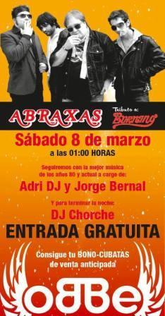 Concierto tributo a Burning de la banda Abraxas