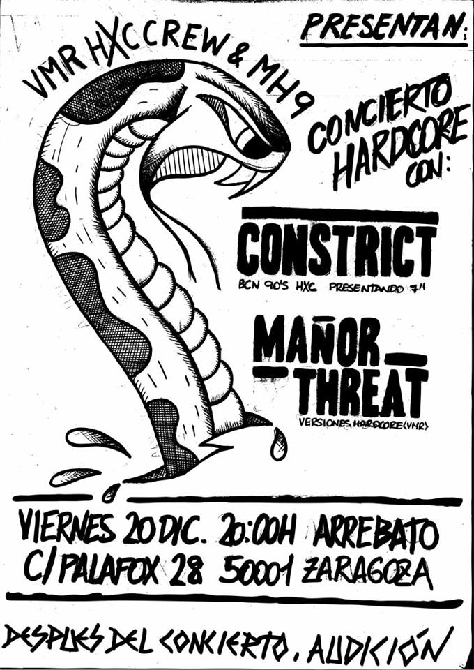 CONSTRICT + MAÑOR THREAT zgz conciertos