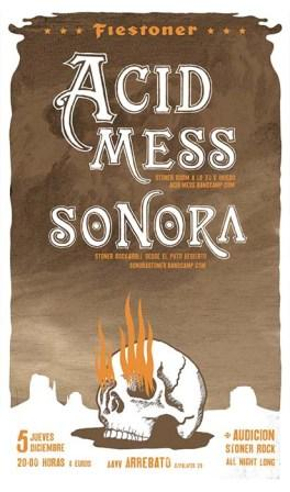 Concierto Acid Mess + Sonora sala Arrebato
