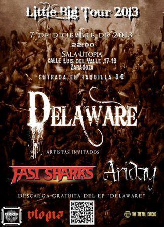 Concierto Delaware + Fast sharks + Ariday sala Utopía