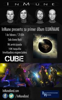 Concierto Inmune + Cube Arena Rock