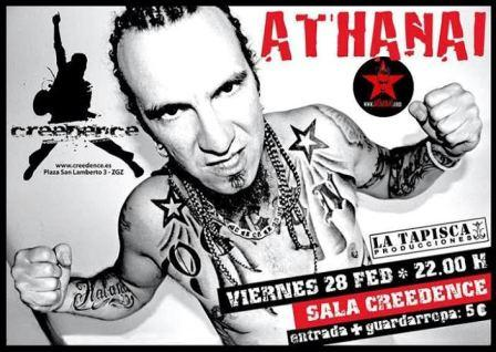 Concierto de Athana! en Sala Creedence de Zaragoza