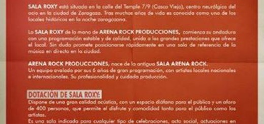 Arena Rock en Sala Roxy